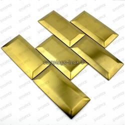 carrelage pour mur crédence en inox modele METRO GOLD