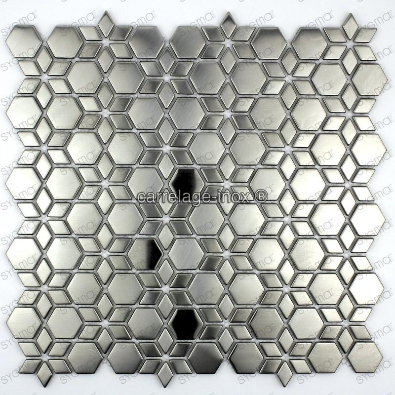 carrelage mosaique en inox modele STAR
