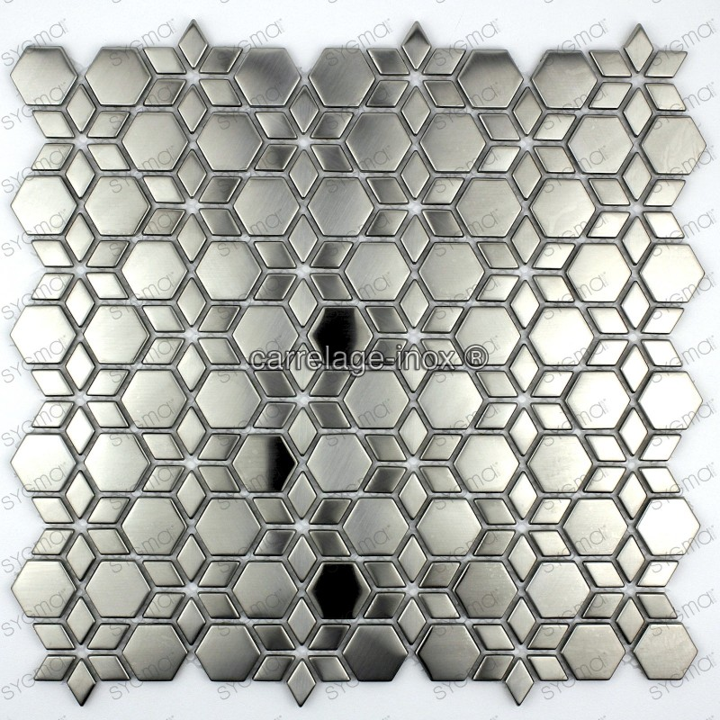Tile mosaic stainless steel backsplash cm star carrelage for Mosaica carrelage