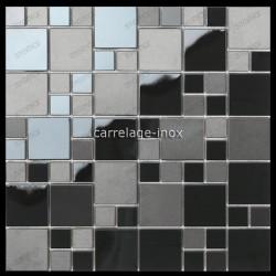 Mosaico en acero inoxydable negro cocina cm-OKEN