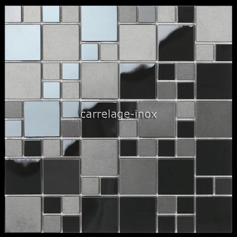 Carrelage Mosaique Inox Noir Credence Plaque Cuisine Cm Oken Carrelage Mosaique