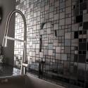 Mosaico en acero inoxydable modelo ROUND25 MIROIR