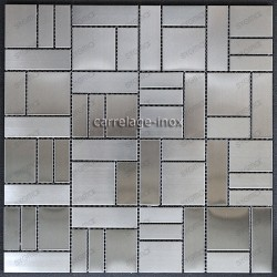Mosaico en acero inoxydable negro modelo OKEN