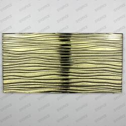 tiles in metallic glass splashback kitchen arco gold
