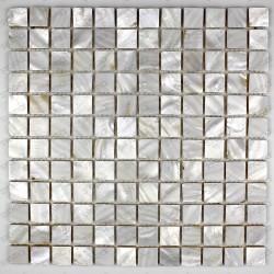 carreau mosaique en nacre modele NACRE23 BLANc