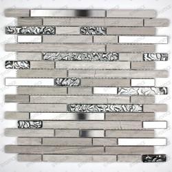 Azulejo mosaico piedra y metal NOVAK