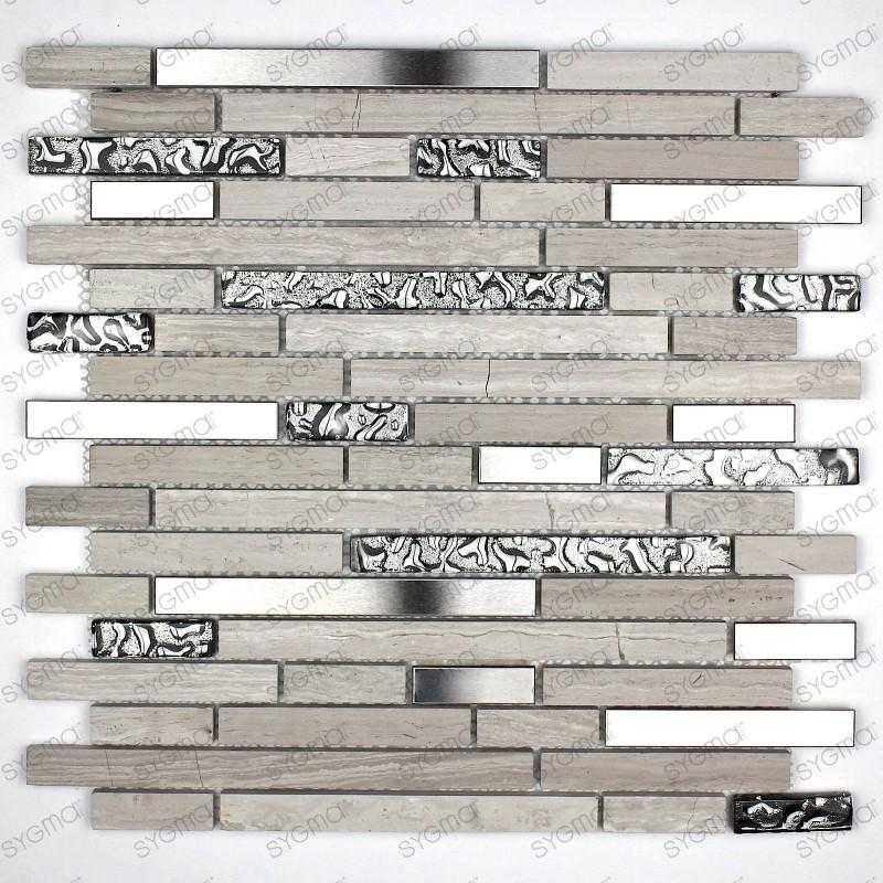 carrelage mosaique en pierre et metal NOVAK