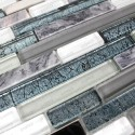 Tile glass mosaic backsplash model Vibe
