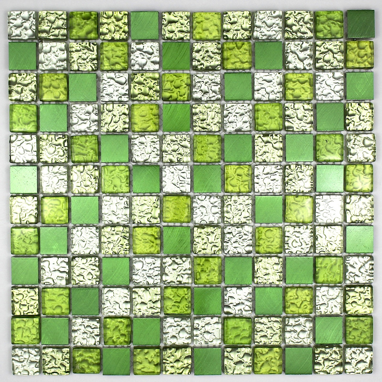 Aluminium And Glass Splashback Kitchen Cm Nomad Green Mosaic