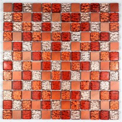 Mosaic aluminium and glass splashback kitchen shower cm-name-orange