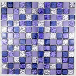 Sheet Glass and aluminium mosaic nomade violet