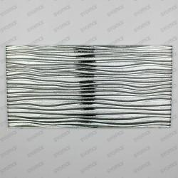 metallic glass backsplash tiles kitchen model Vector Argent