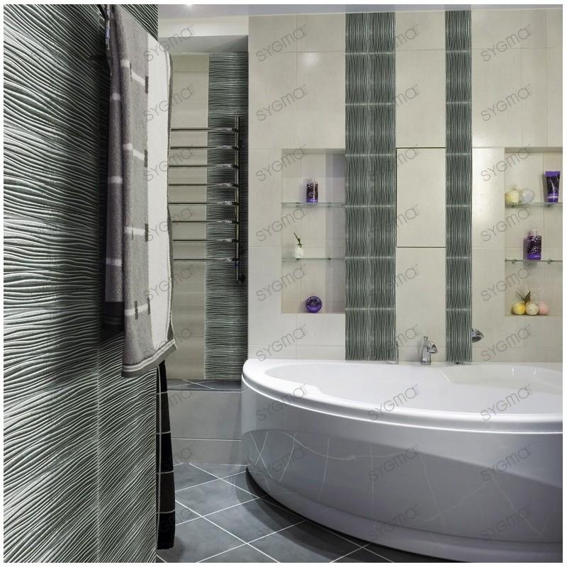 Metallic Glass Backsplash Tiles Kitchen Model Arco Argent