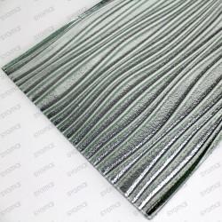 carreaux en verre métallisé modèle Vector Argent