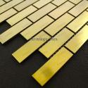 mosaique inox modèle BRIQUE64 GOLD