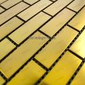 Mosaico en acero inoxydable modelo BRIQUE64 GOLD
