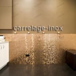 Mosaico en acero inoxydable modelo MIXTION CUIVRE