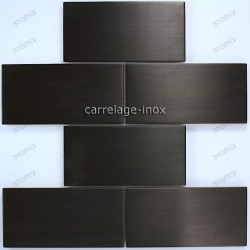 tiles for wall splashback stainless cm-BRIQUE150 black