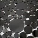 carrelage inox sol et mur modele Focus Noir