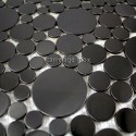 Mosaico en acero inoxydable cocina baño Focus Noir