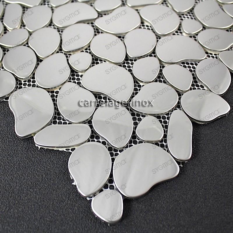 mosaico en acero inoxydable GALET MIROIR