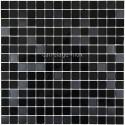 mosaico acero inoxidable cocina ducha miroir noir mix