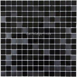 mosaico acero inoxidable cocina ducha cm-miroir noir mix