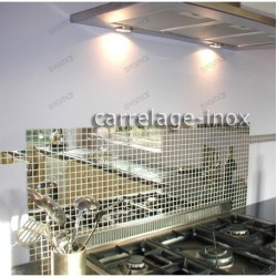 stainless steel sheet kitchen splashback mosaic mirror-cm 25
