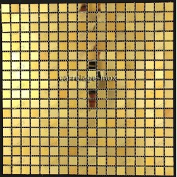 credence cuisine inox mosaique douche Fusion Or