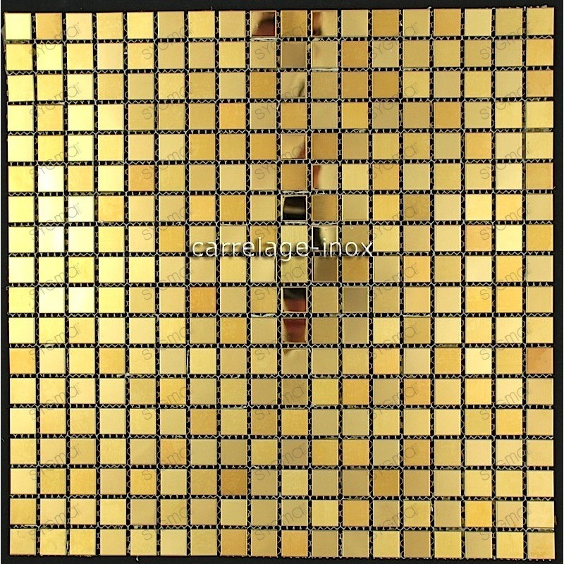 credence cuisine inox mosaique douche gold mix15