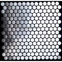 mosaico acero inoxidable cocina ducha cm-round 20