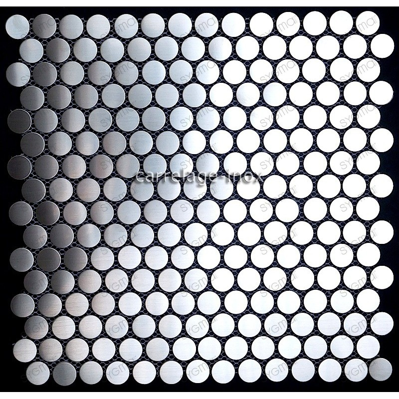 mosaico acero inoxidable cocina ducha round 20
