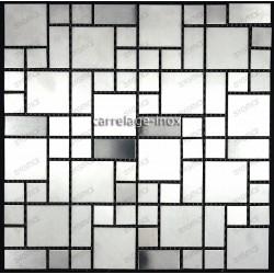 mosaico acero inoxidable cocina ducha cm-laska