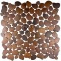 mosaico acero inoxidable cocina ducha galet cuivre vieilli