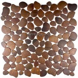 mosaico acero inoxidable cocina ducha cm-galet cuivre vieilli
