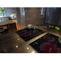 carrelage cuisine inox credence mosaique inox cm-miroir 98