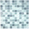 Mosaique carrelage verre 1 plaque GRIS MIX