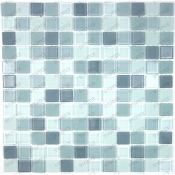 Mosaic tiles glass 1 plate grey MIX