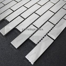 stainless steel splashback kitchen stainless steel mosaic shower cm-brick 64 mirror