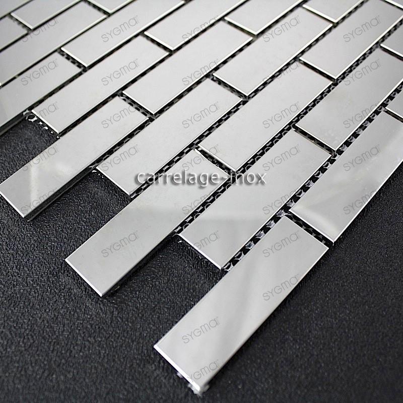 mosaico ducha acero cocina baño cm-brick 64 miroir