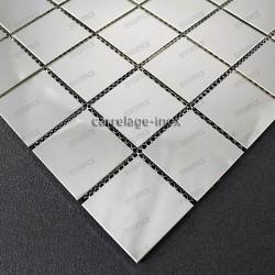 stainless steel splashback kitchen stainless steel mosaic shower cm-regular48miroir