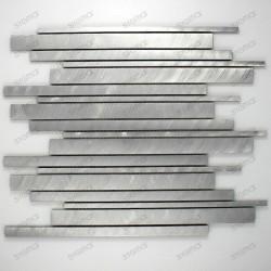 credence cuisine aluminium mosaique douche aluminium cm-phantom