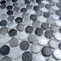 mosaico aluminio frente cocina ducha baño cm-circlegris
