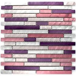 credence cuisine aluminium mosaique douche aluminium cm-blend-violet