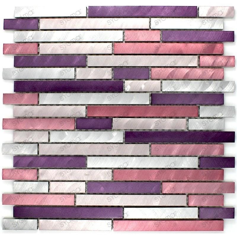mosaico aluminio frente cocina ducha baño cm-blend-violet