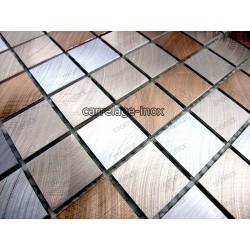 credence cuisine aluminium mosaique douche aluminium cm-alu25-marron