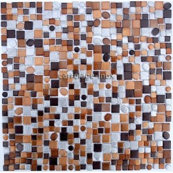 splashback kitchen aluminium mosaic shower aluminium cm-trendy-Brown