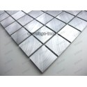 mosaico aluminio frente cocina ducha baño cm-alu25