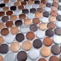 credence cuisine aluminium mosaique douche aluminium cm-circle-marron