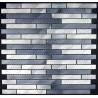 mosaico aluminio frente cocina ducha baño cm-blend-gris